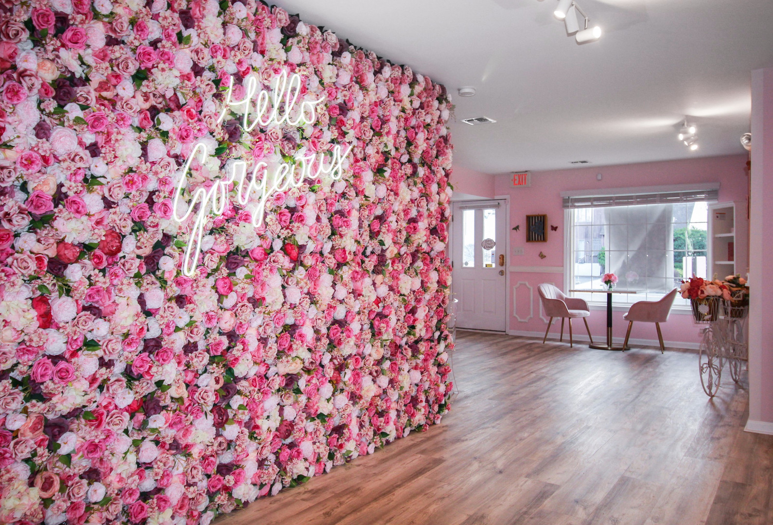 Flower Wall at Pinkies