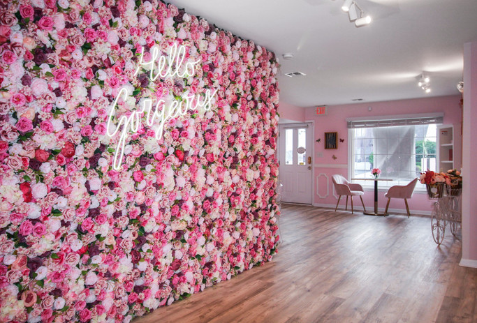 Flower Wall at Pinkies
