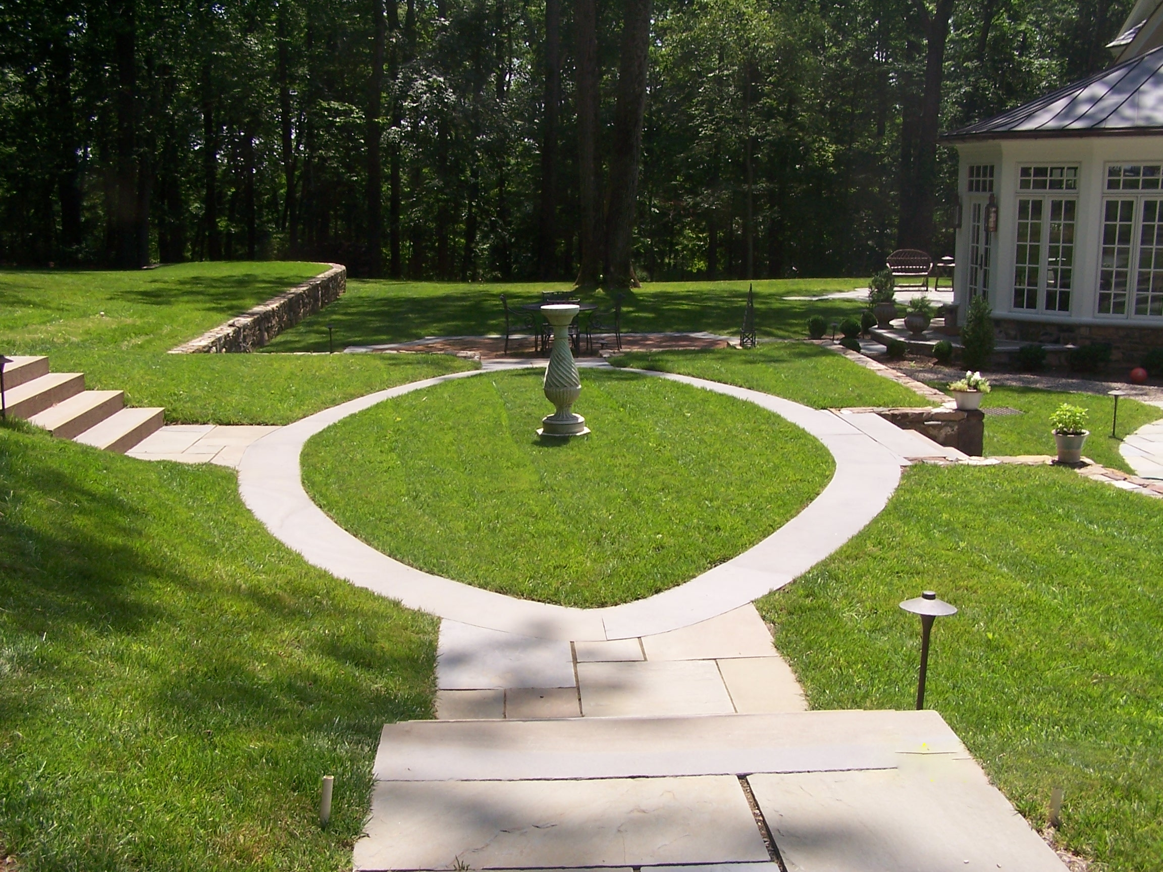Landscaped bluestone walk