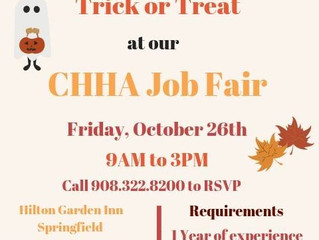 FRIDAY, OCTOBER 26th, CHHA JOB FAIR AT OASIS CONFERENCE & EVENT CENTER