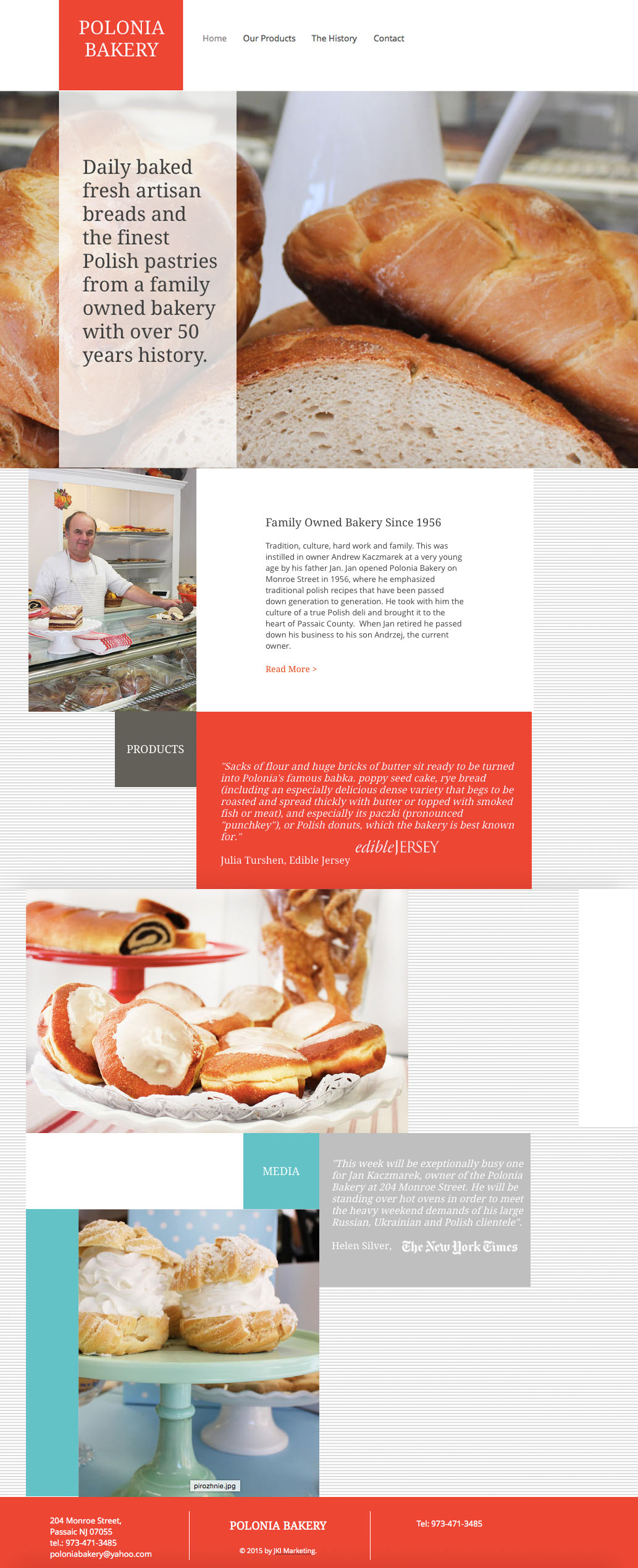 Polonia Bakery Passaic Web Design