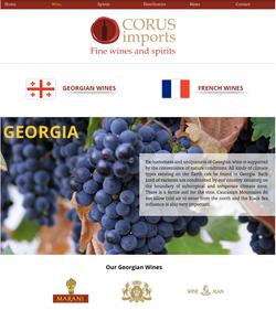 Corus US Website Design