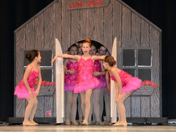 jazz dancers perform at recital