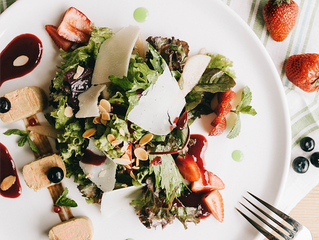 Summer Light Salad with Duck Foie Gras