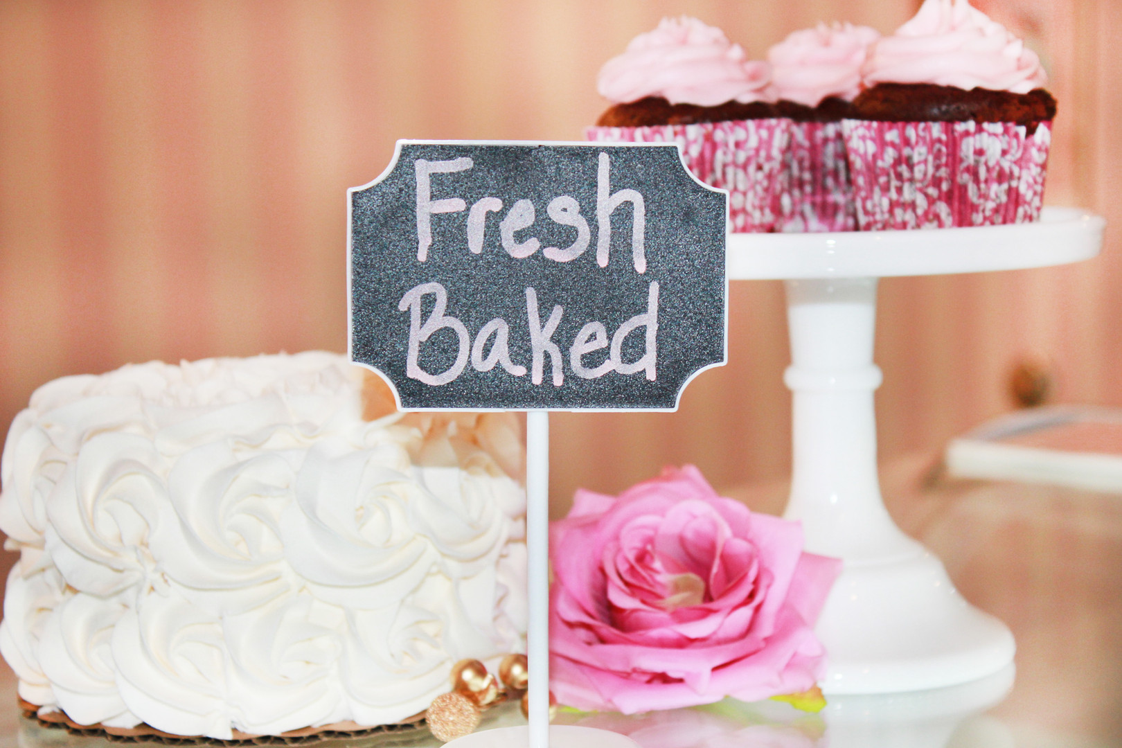 Freshly Baked Cupcakes and Cakes