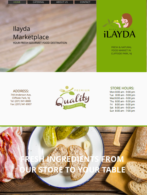 Ilayda Marketplace Website Design