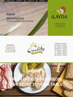 Ilayda Marketplace Website Design