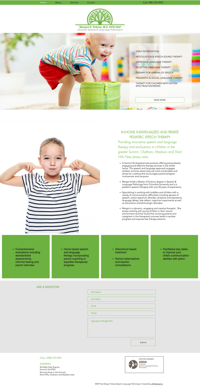 New Website Design for Summit Speech Therapy