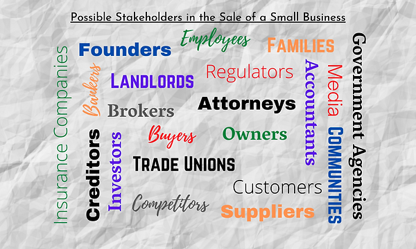 Stakeholders in the Sale of a Small Busi