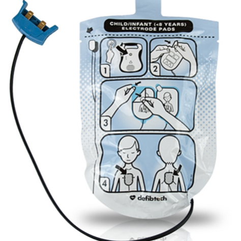 Pediatric Defibrillation Pads for Lifeline AEDs and Auto AEDs