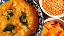 MOROCCAN SPICED SQUASH AND LENTIL SOUP