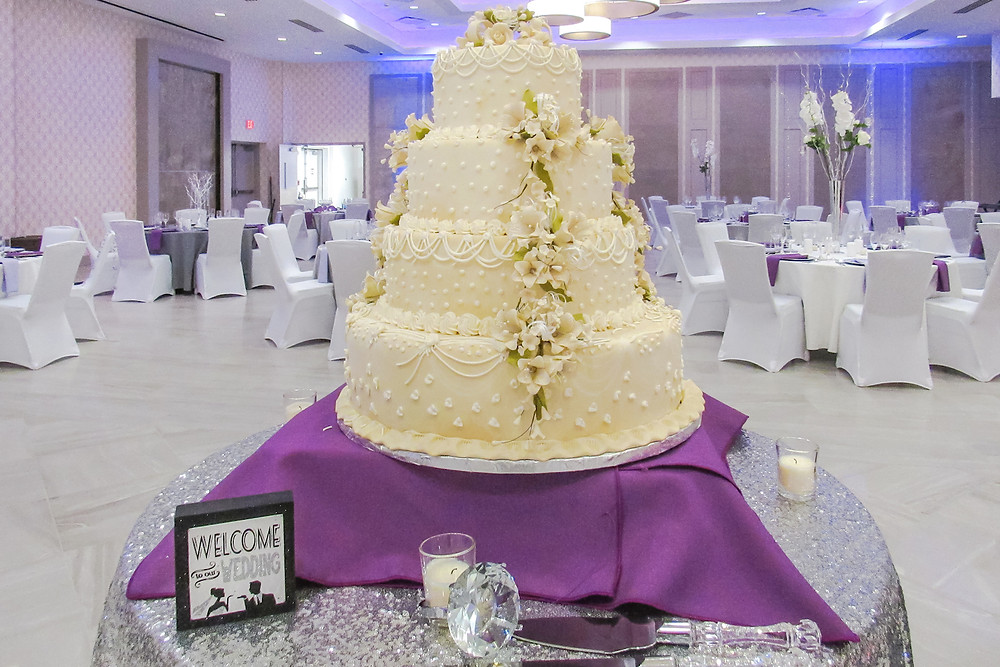 Wedding Cake Presentation at Oasis Event Center in Springfield, NJ