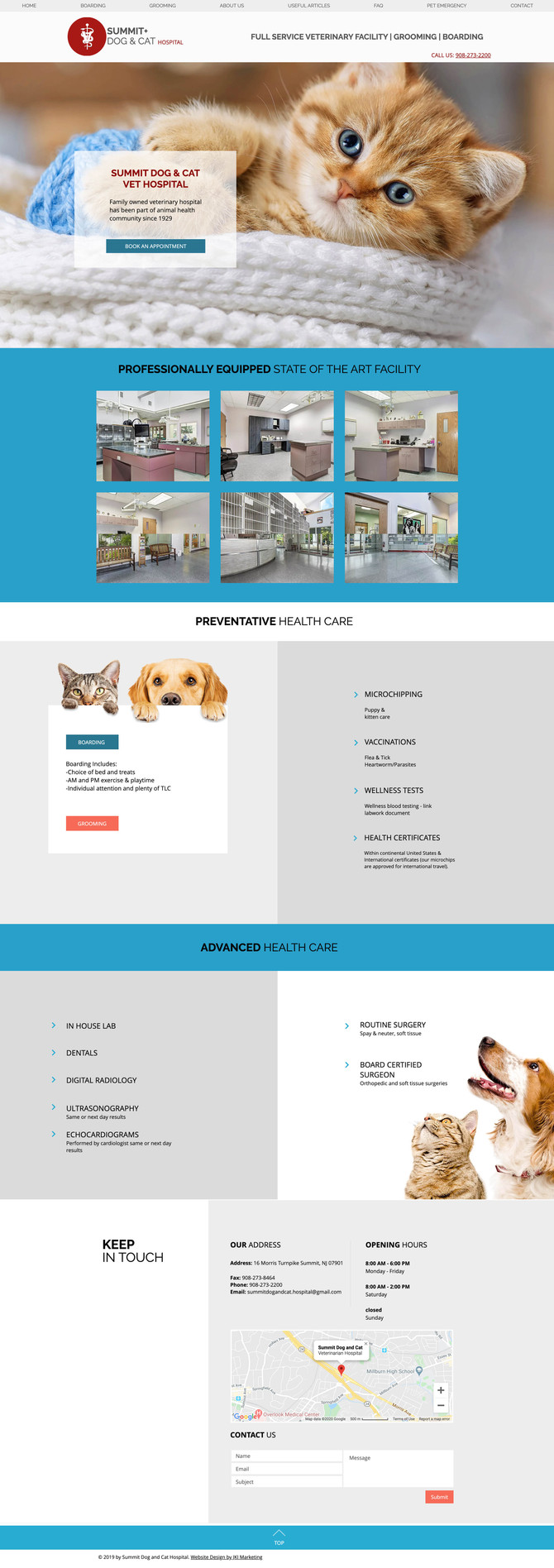 Website Design for Summit Dog & Cat Hospital