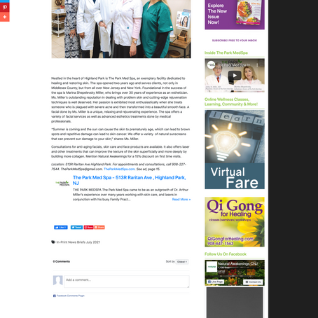 The Park Med Spa was featured in Natural Awakenings Magazine