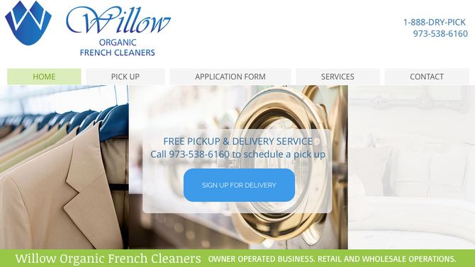 New website for Willow French Cleaners!