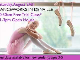 Saturday, August 24 Open House and Free Class at Danceworks Studio in Denville