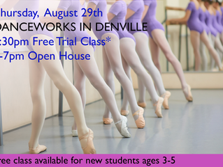 Thursday, August 29th  Open House and Free Trial Class