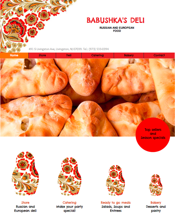 Babushka's Deli Food Store Website