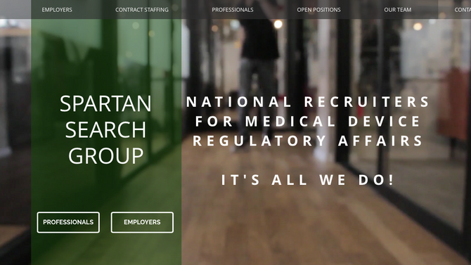 New Website for Spartan Search Group