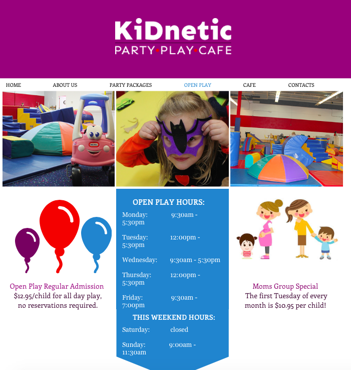 Kidnetics Website Design NJ