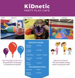 Kidnetics Website Design NJ