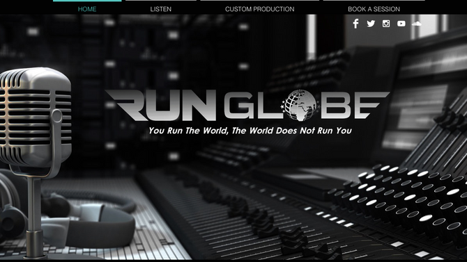New Website Created for RunGlobe Music Project