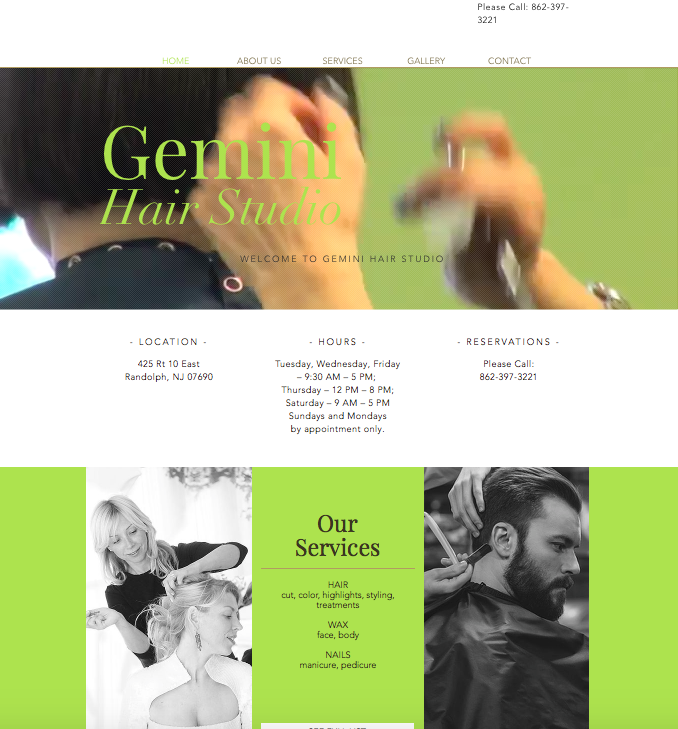New Website for Hair Salon in NJ