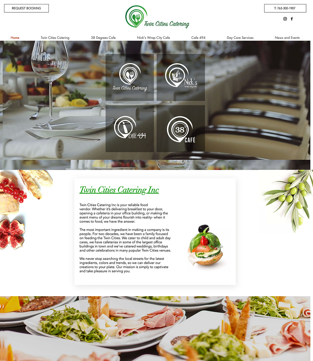 Website Design for Twin Cities Catering