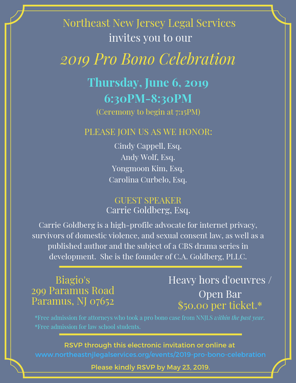 Pro Bono Immigration Attorneys Celebration in New Jersey