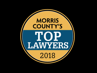BRIAN D. O'NEILL VOTED ONE OF MORRIS COUNTY'S TOP TWO IMMIGRATION ATTORNEYS IN  2018