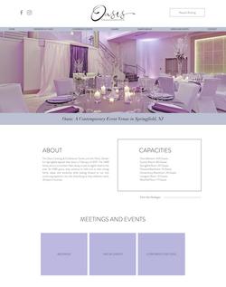 Oasis Event Center Website Design