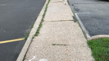 BEFORE AND AFTER The Sidewalk Repair done by Gesualdo Landscaping and Masonry