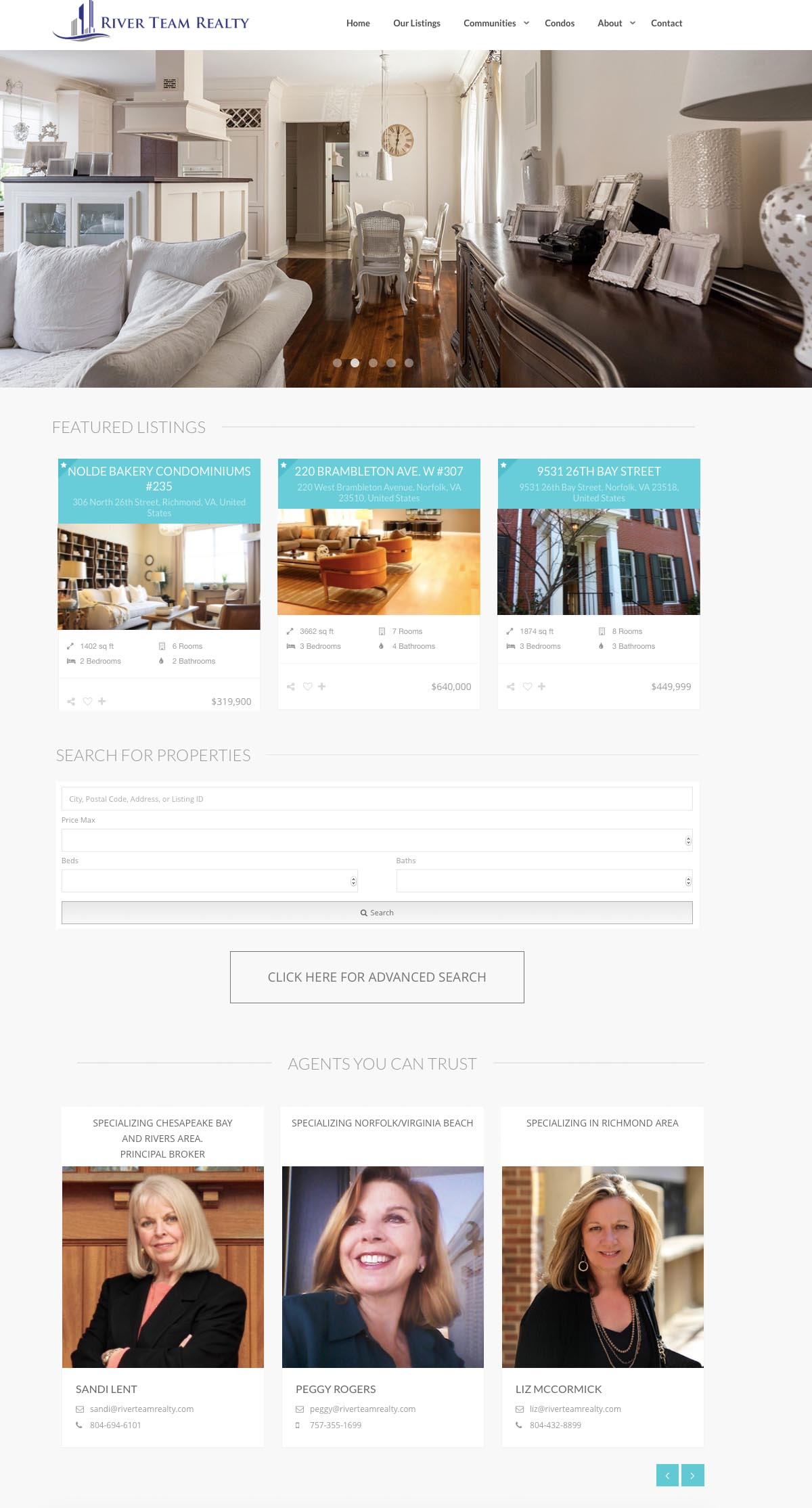 Website Design River Team Realty