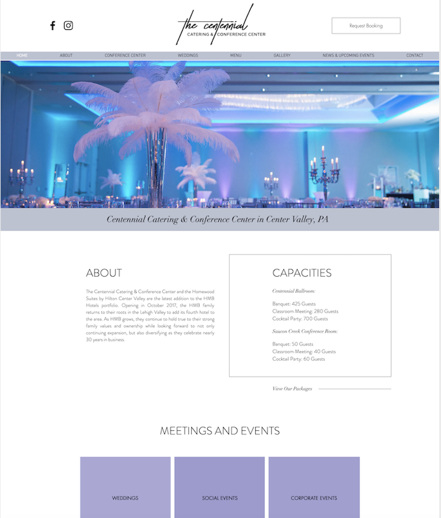 Website Design for Event Space