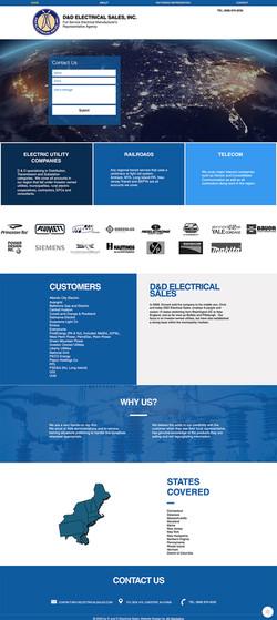 Website Design D&D Electrical Sales