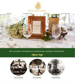 White Lake Lodges NY Website Design