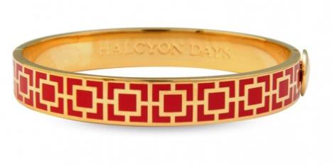 MOSAIC RED & GOLD BANGLE