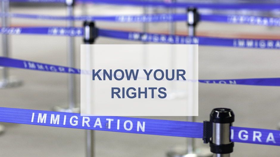 What to do if Immigration and Customs Enforcement (ICE) Stops You in Public. KNOW YOUR RIGHTS