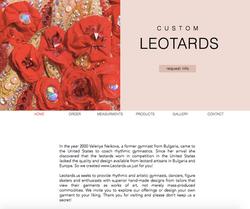 Custom Leotards Website Design