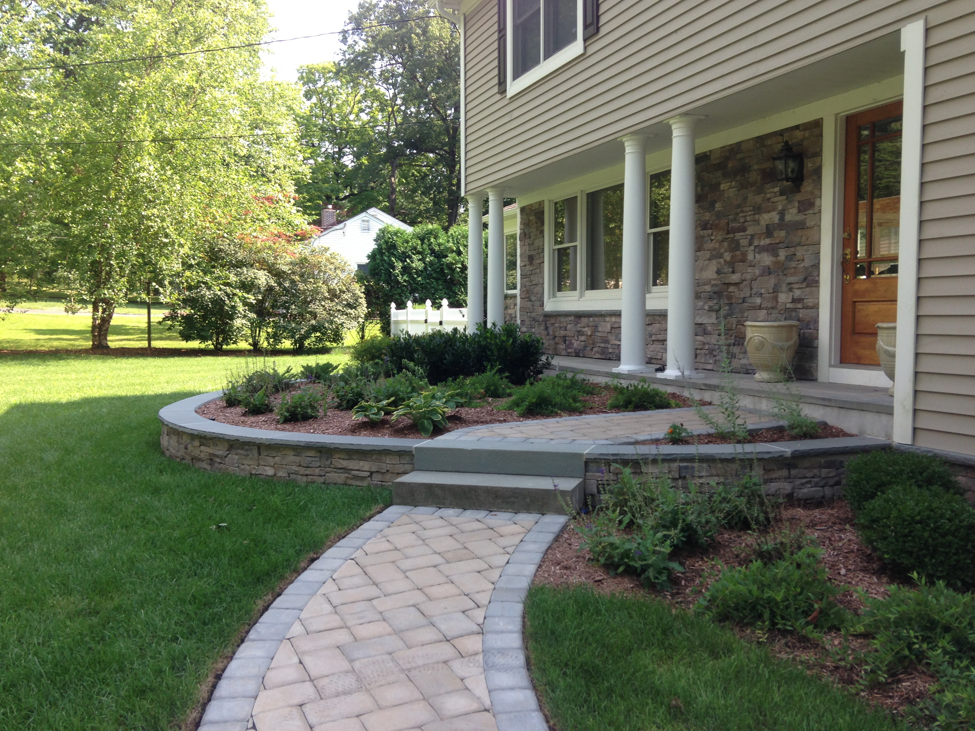 Front Masonry _ Landscaping
