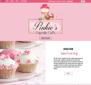 Website Design for Pinkies Cupcake cafe