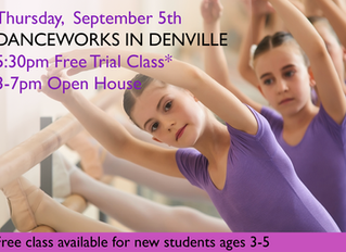 September 5th, Danceworks Open House and Free Class