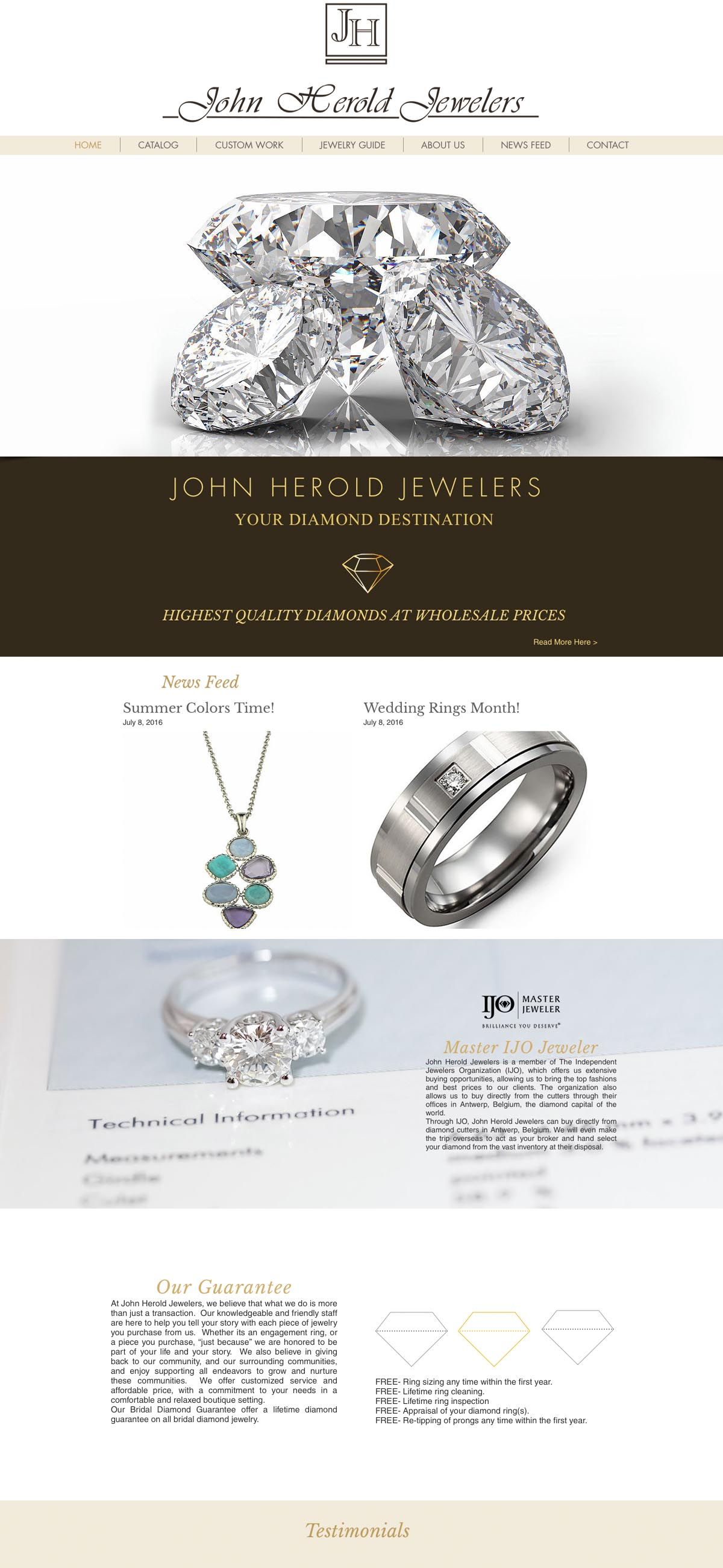 John Herold Jewelers Website