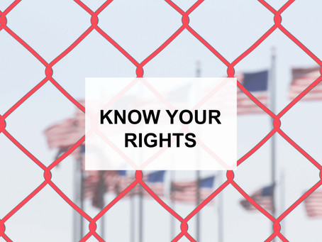 Massive deportation starting on Sunday, June 23. KNOW YOUR RIGHTS when approached by ICE