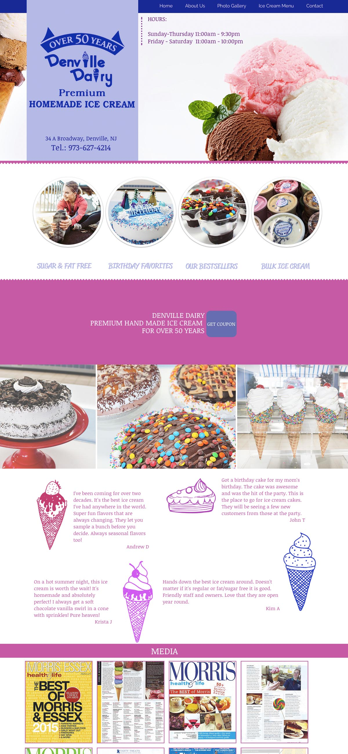 Website Design Denville Dairy