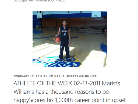 Athlete of the week Marist's Williams has a 1000 reasons to be happyScores