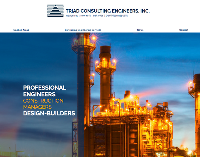 Website Design for Triad Consulting Engineers
