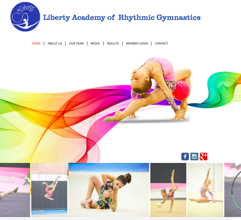 Liberty Rhythmic Gymnastics Website
