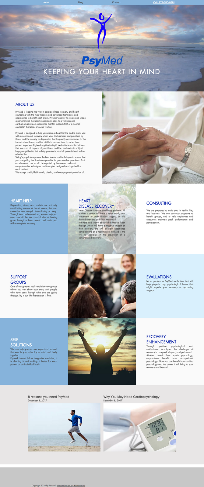 New Website Design for PsyMed Company