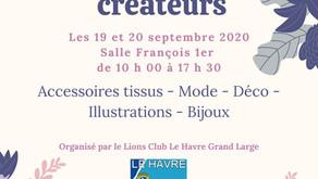 1er marché de créateurs de la saison les 19 & 20 septembre 2020 au Havre